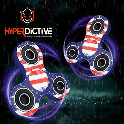 Hyperdictive Camo Anxiety Fidget Hand Spinner- Best and Coolest Fidget Tri Spinners Toy For Kids & Adults- Limited Edition- Best for Tricks- Perfect Sensory ADHD Stress Relief Toy- Amazing Gift- USA