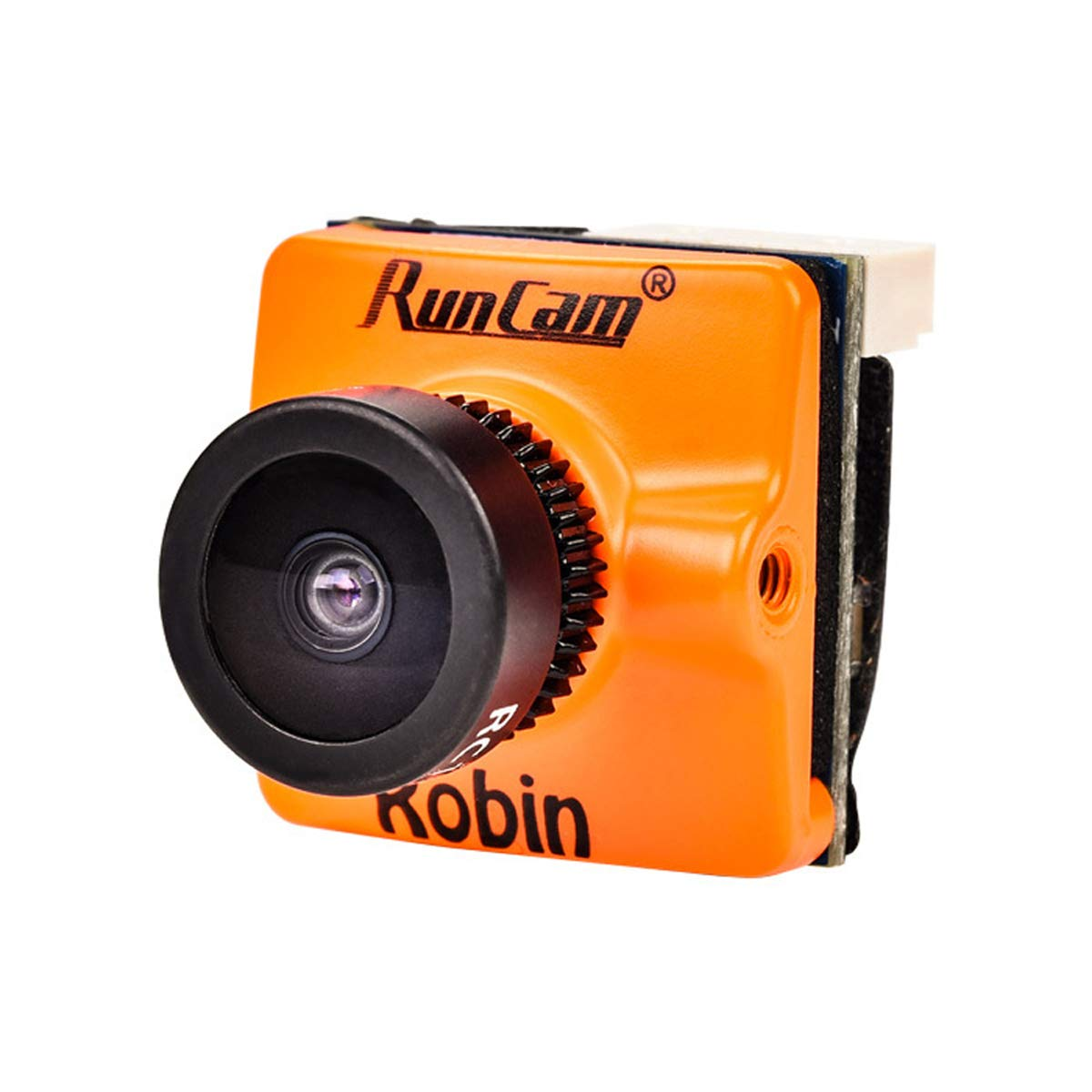 RunCam Robin FPV Camera 700TVL 1.8mm Lens PAL NTSC Switchable 1/3inch CMOS 4:3 FOV 160 Degree Micro Mini FPV Camera for FPV Quadcopter Racing Drone Orange by Crazepony