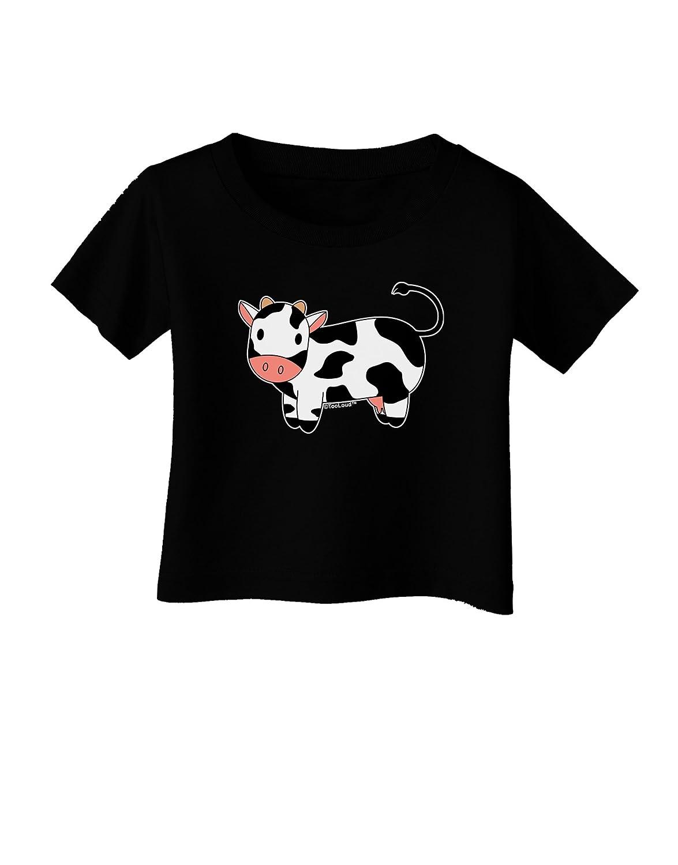 TooLoud Cute Cow Infant T-Shirt Dark
