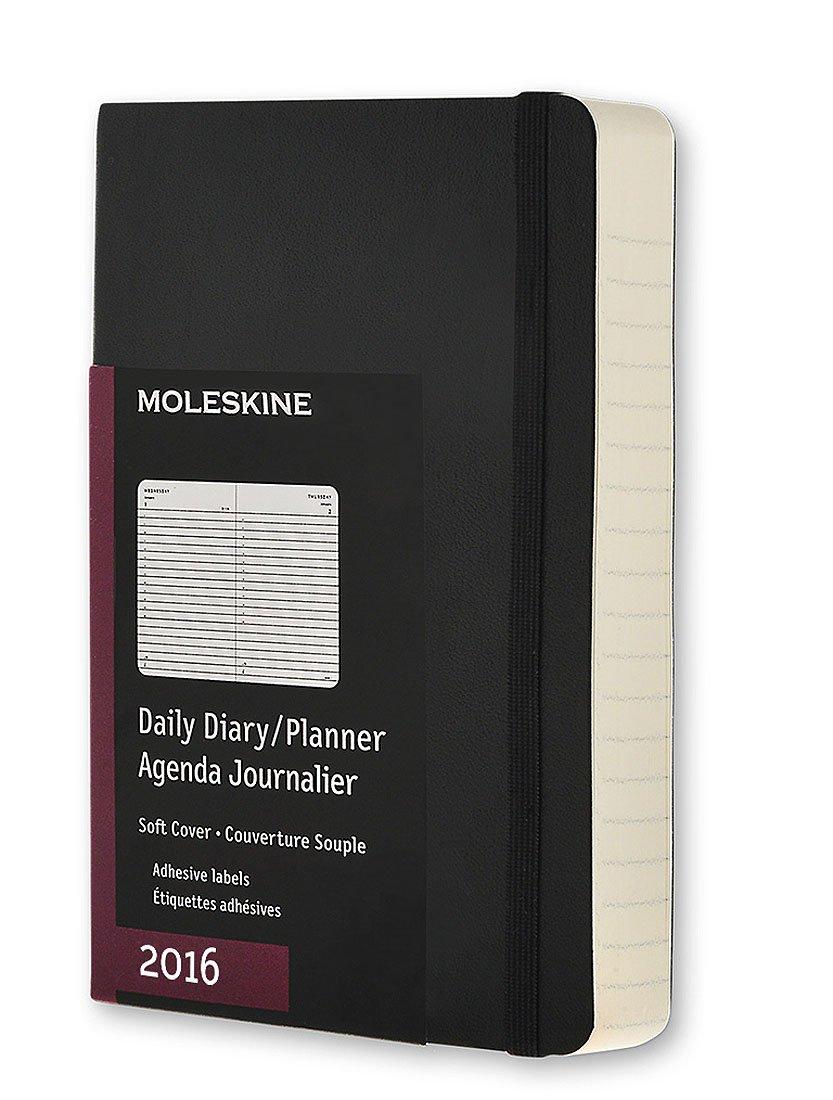 Moleskine 2016 Daily Planner, 12M, Pocket, Black, Soft Cover (3.5 x 5.5)