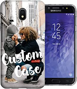 MUNDAZE Design Your Own J3 Case, Personalized Photo Phone case for Samsung Galaxy J3 J337 (2018) Achieve/Express Prime 3/ Amp Prime 3 Perfect Valentine Day Gift Custom Case