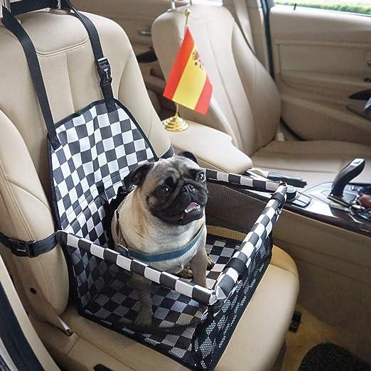 Felicidad Asiento del Coche de Seguridad para Mascotas, Protector de la Cubierta del Asiento del Perro para Viaje, Bolso de Viaje con Correa de Seguridad para Perro Pequeños o Gato: Amazon.es: Productos