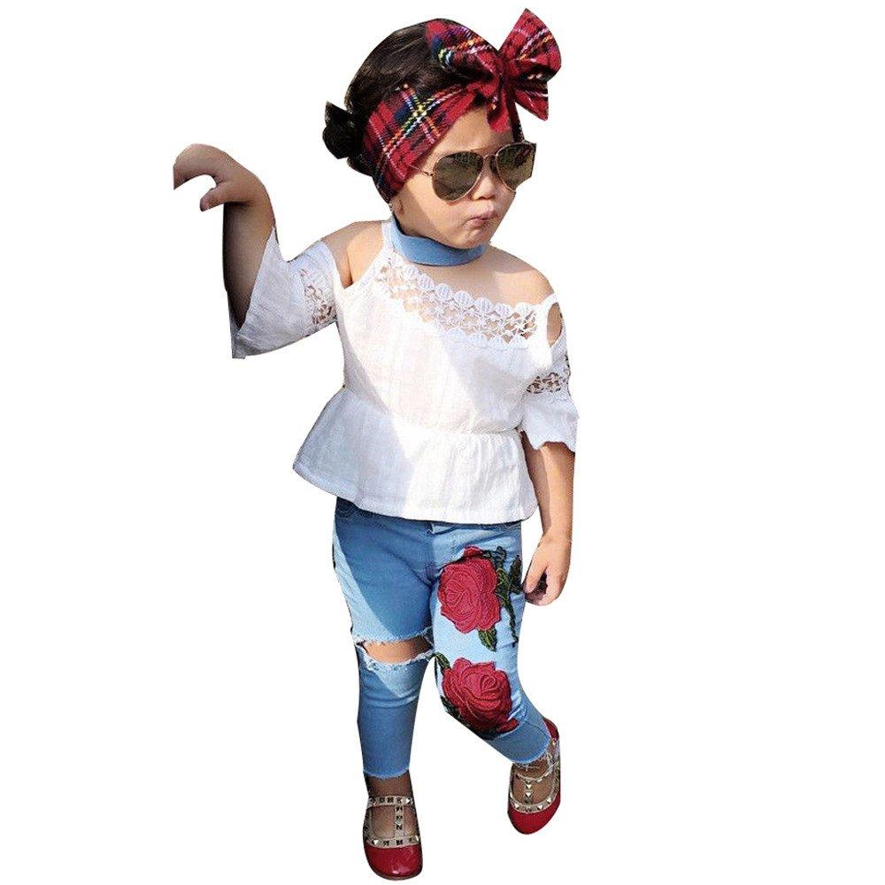BABY BABIES GIRLS SPANISH SUN FRILLY DRESS PANTS 3PC SET HEADBAND OUTFIT DRESSES