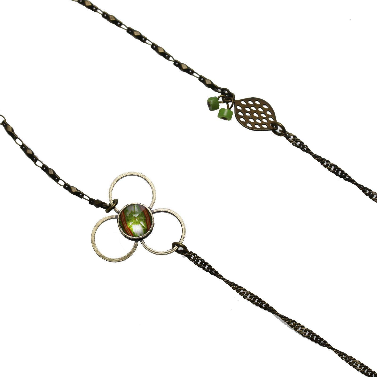 Tamarusan Glasses Chain Cicada Green Plainite Unisex Glass Code by TAMARUSAN