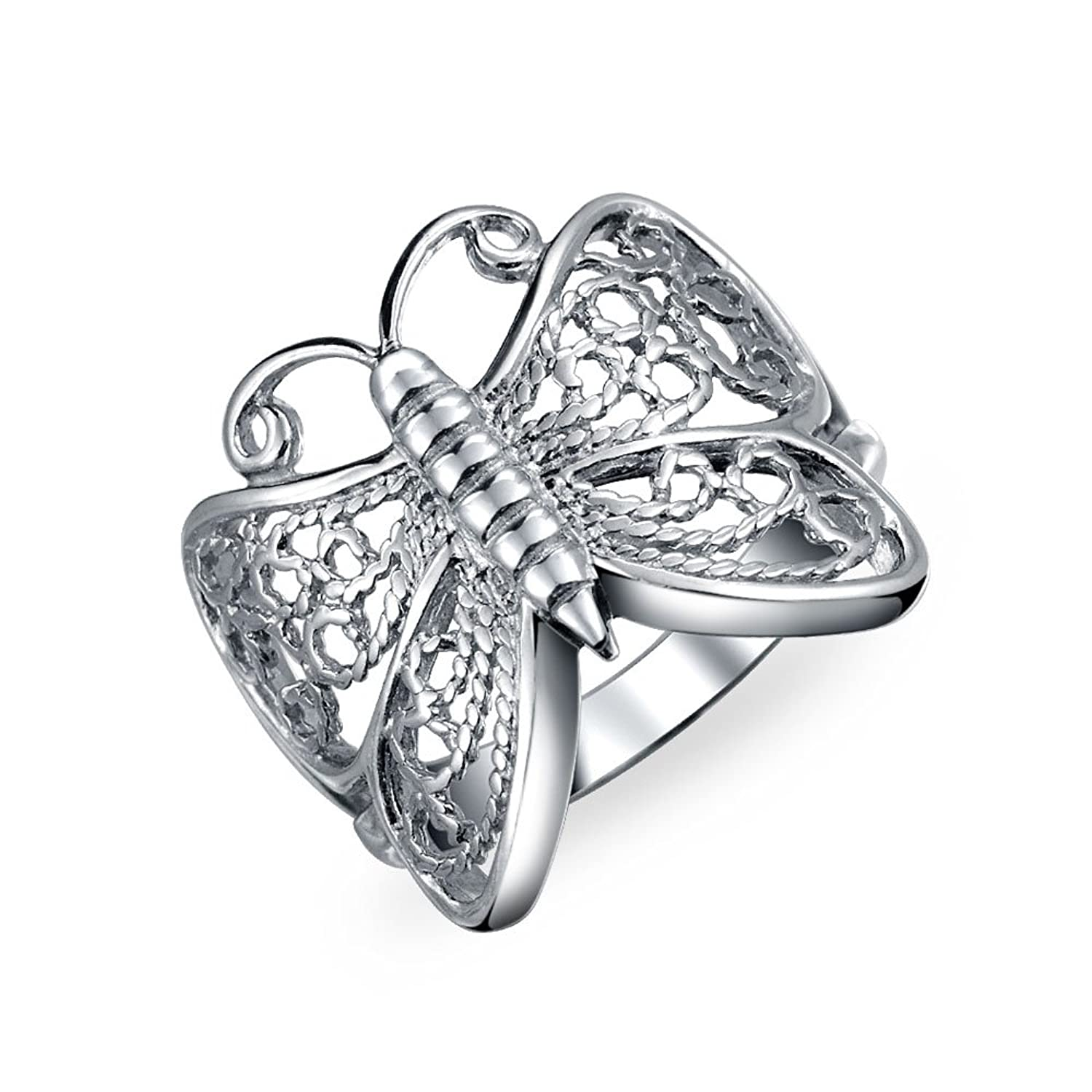 Amazon Bling Jewelry Sterling Silver Open Butterfly Filigree