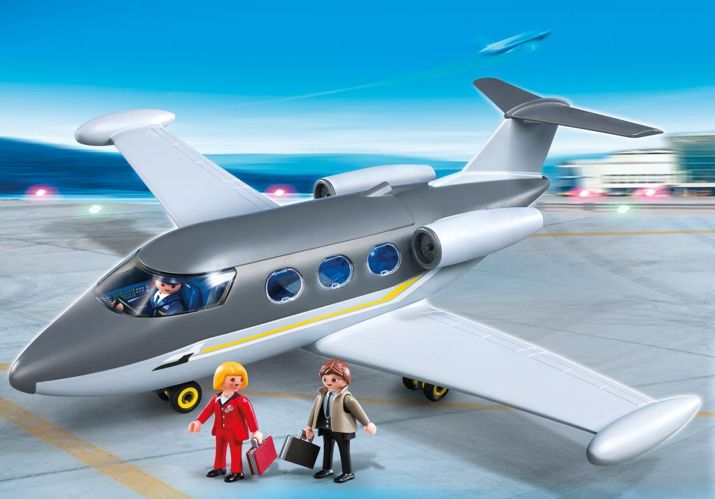 playmobil private jet toys games. Black Bedroom Furniture Sets. Home Design Ideas
