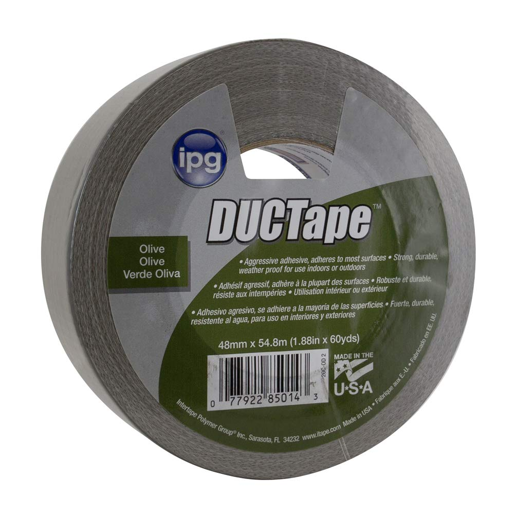 IPG AC20 9 Mil JobSite Utility DUCTape 1.88'' x 60 yd, Olive Drab