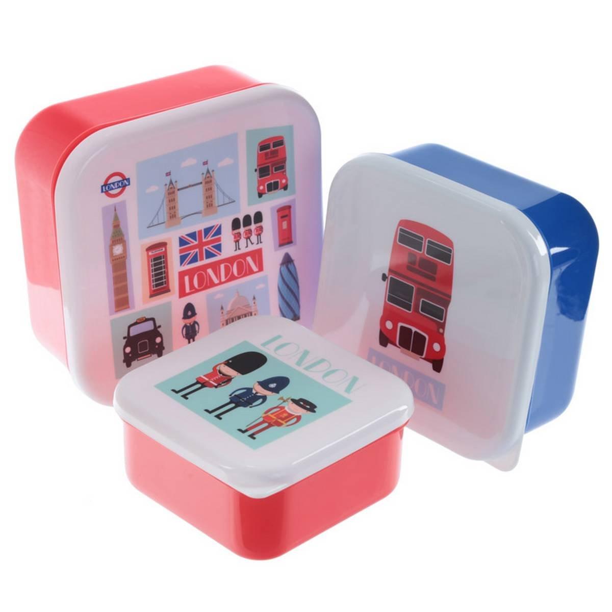 3er Set Lunchbox ' London ' Puckator