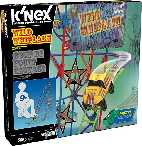 K'NEX 16491 Thrill Rides Wild Whiplash Coaster Building -
