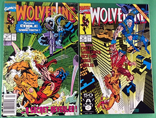 """Wolverine (1988) 41 42 NM (9.4) 1st prints Sabretooth & Cable """"I Am Your Father"""""""