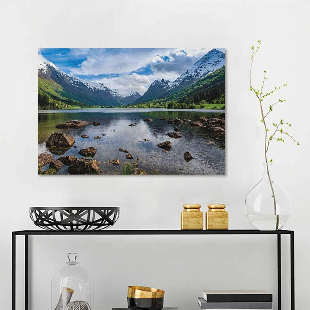 Amazon Com Sunset Glow Wall Painting Prints Nature Mountains River