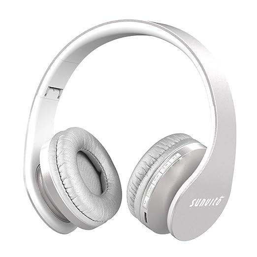 361 opinioni per Sunvito 4 in 1 Cuffia Bluetooth Pieghevole Wireless Auricolari con Mic,Lettore