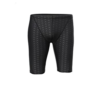 86839a6557 QRANSS Men's Competition Jammers Quick Dry Swimming Shorts (Black, ...