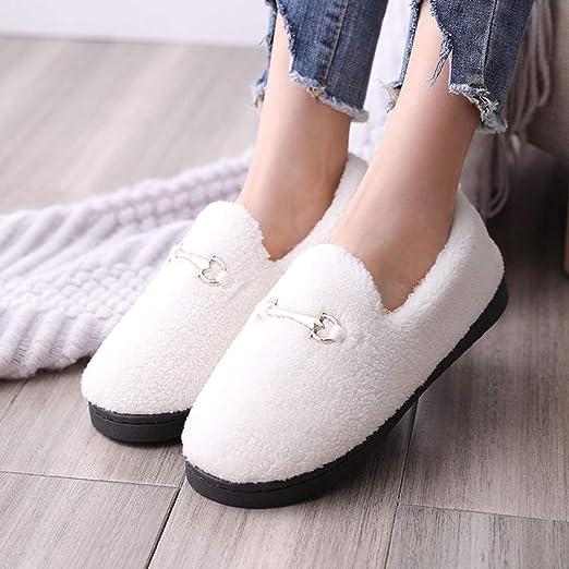 Flip Flop-GQ Zapatillas de algodón de Cachemir Zapatos de Piel de ...