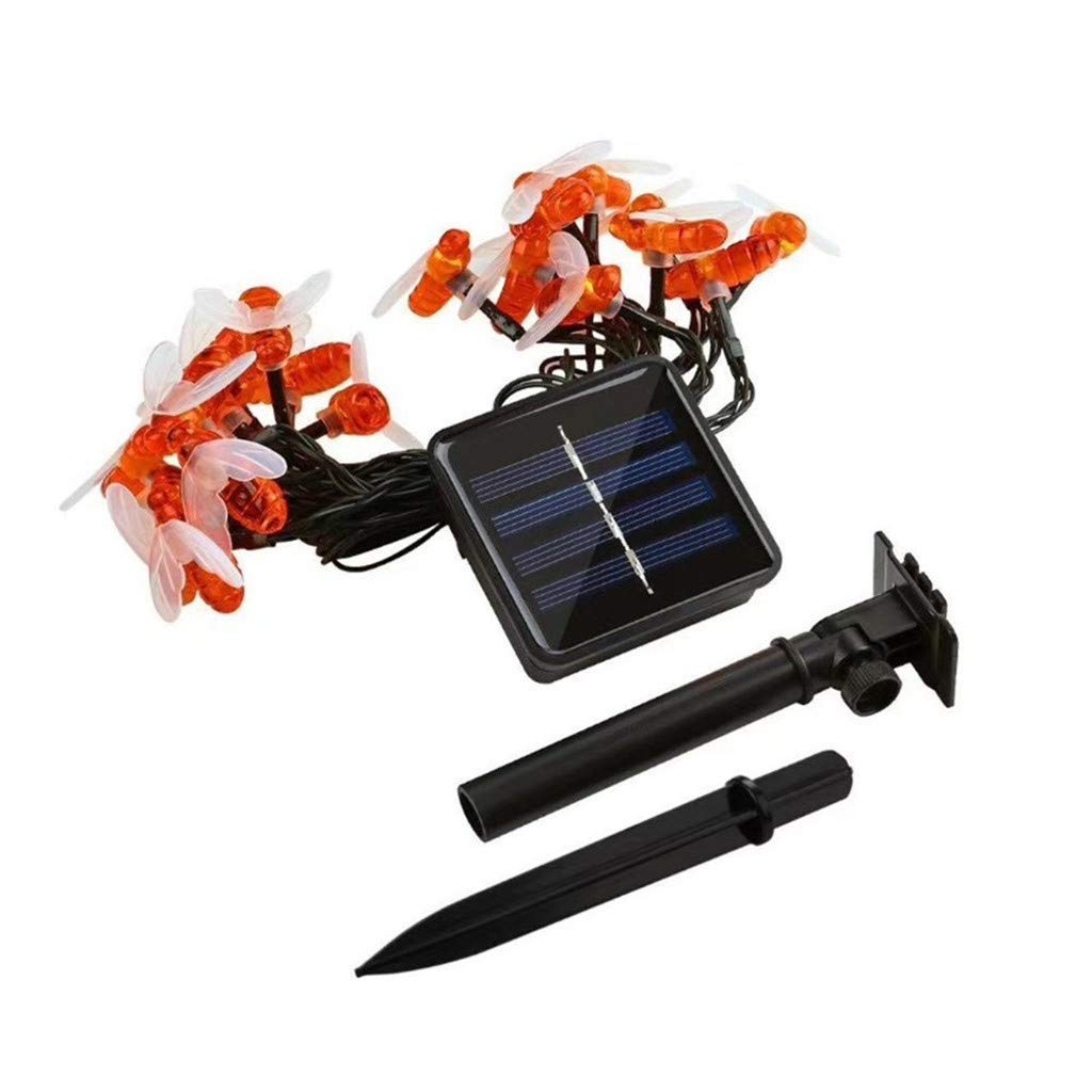 ❤️Jonerytime❤️ Remote Control Solar Powered String Lights Bee Led Lights8 Modes Waterproof Dec Yellow