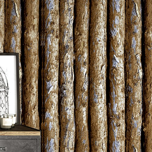 DXG&FX Chinese-like wood barks wallpaper trunk wood tree pattern wallpaper Living room hotel and Cafe TV wall-papers-A