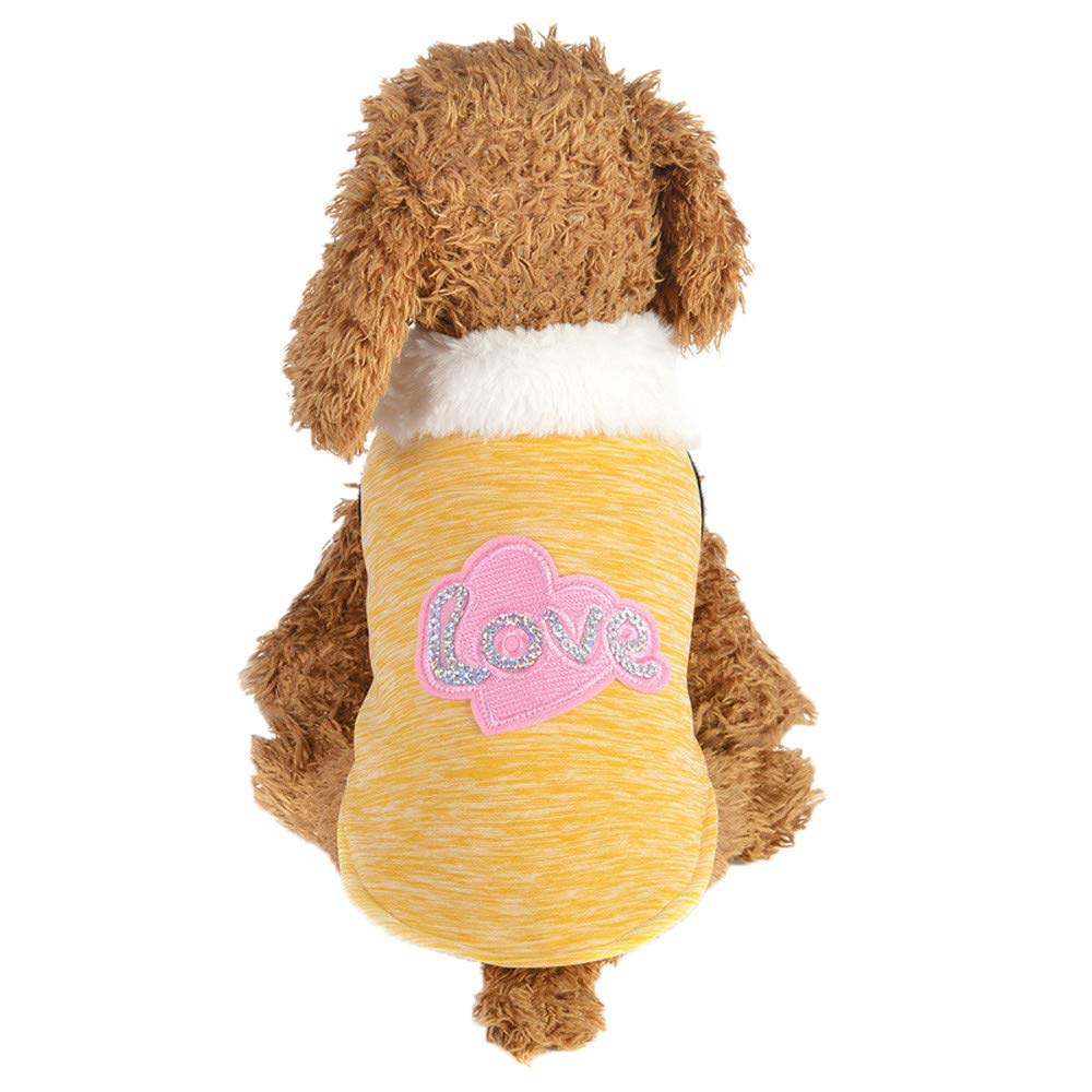 Ropa para Mascotas,Abrigo Suéter de Algodón Caliente Mascotas Perros Chaqueta suéter Ropa Gusspower: Amazon.es: Productos para mascotas