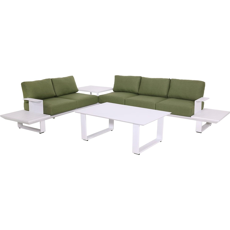 lounge eckbank garten lounge set mit tisch espressi snow gr n wei g nstig. Black Bedroom Furniture Sets. Home Design Ideas