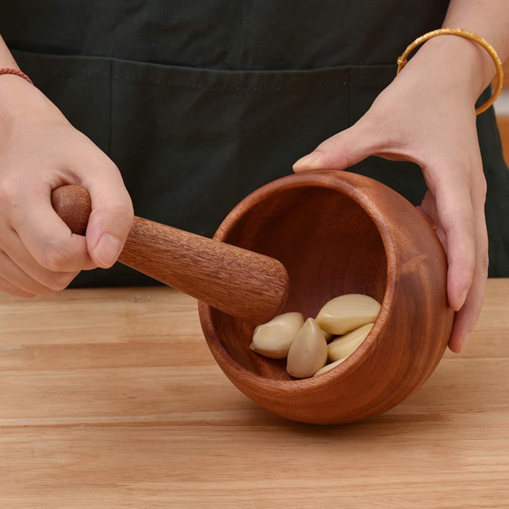 UPKOCH mortier et Pilon en Bambou Naturel Bambou /épice broyeur ail hach/é Pounder Cuisine Outils de Cuisson pour /épice aux Herbes meulage Bol Taille s