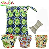 Baby Waterproof Reuseable Cloth Training Diapers 3pcs, A Wet and Dry Bag by Ohbabyka