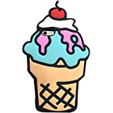 MC Fashion 3D Japanese Cartoon Rinkadoll Super Cute Soft Silicone Case Cover for Apple iPhone 6/6S - Ice Cream Cone-Beige