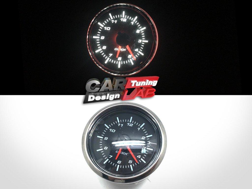 1 52/mm Uhr Zeit Auto Yacht Gauge Meter Wei/ß LED//Clear Lens 12/V Wasserdicht