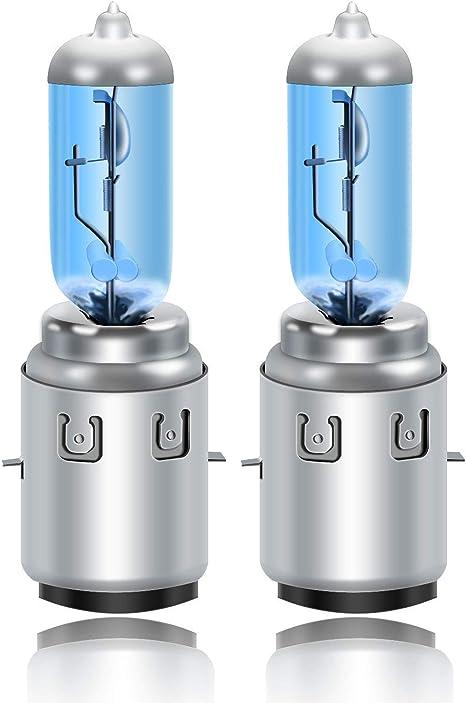 10 x lampadine B35 BA20D 12V 35//35W per scooter moto luce blu Aerzetix