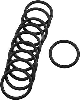 sourcingmap® Dieci Pz 32mm Diametro esterno: 3,1 mm gomma spessore guarnizione con olio le guarnizioni ad anello nero