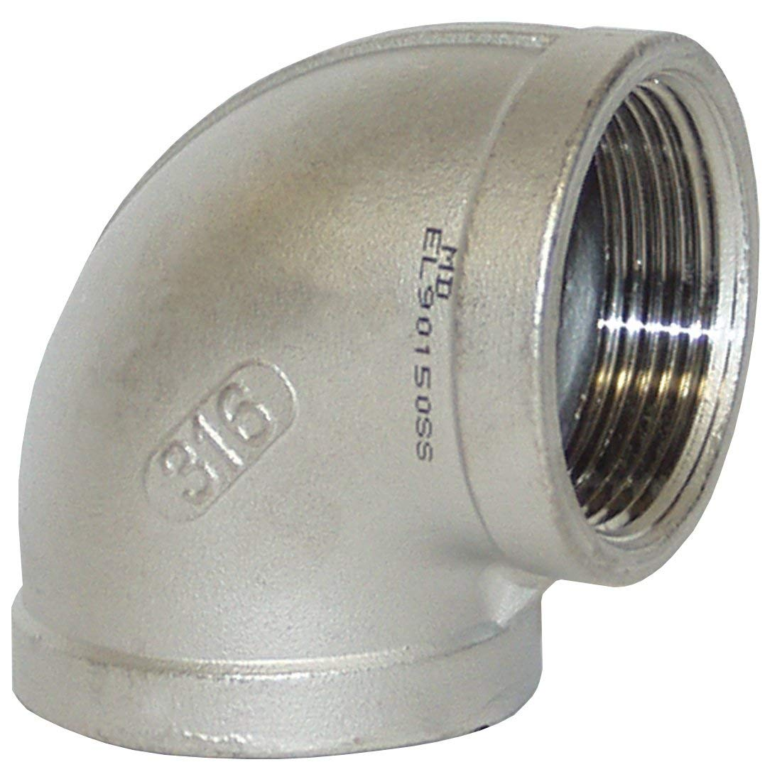 2 ID 150# 316 Stainless Steel Dixon EL90200SS 2 FNPT Threaded 90/° Elbow