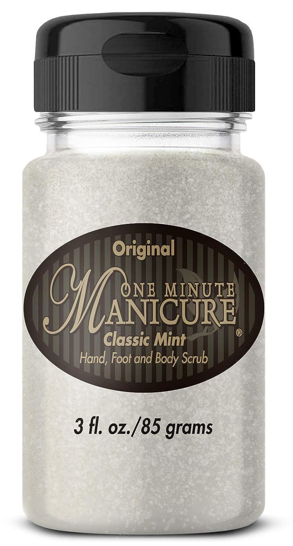 One Minute Manicure – Moisturizing Salt Scrub – 3 oz – Professionally Formulated To Exfoliate, Recondition & Moisturize Skin – Enhanced With Botanical Oils & Natural Sea Salts (Classic Mint)
