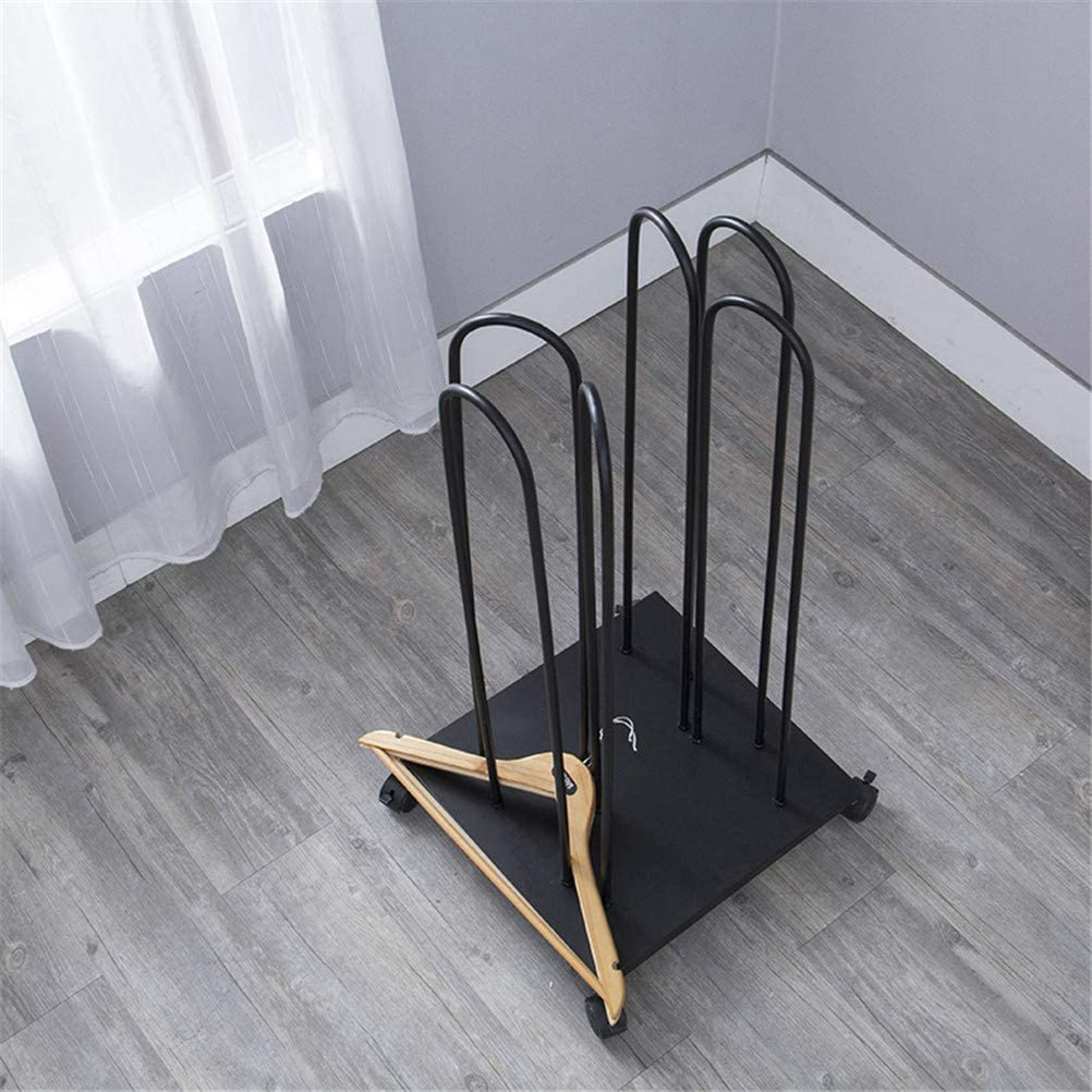Empileur de cintreEmpileur de cintre avec des roues Porte-organisateur Crochets de rangement pour la maison Organisateur de rangement pour cintres pour les magasins de v/êtements