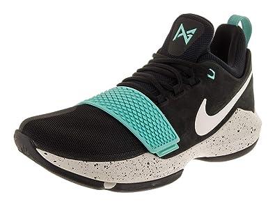 quality design fcd1c 3576a Nike Men's PG 1 Black/Aqua Basketball Shoes (10.5)