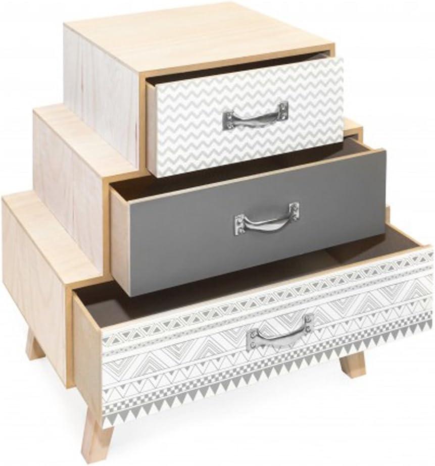 Dim Table de chevet avec 2 tiroirs coloris rose 400 X 240 X 553 mm