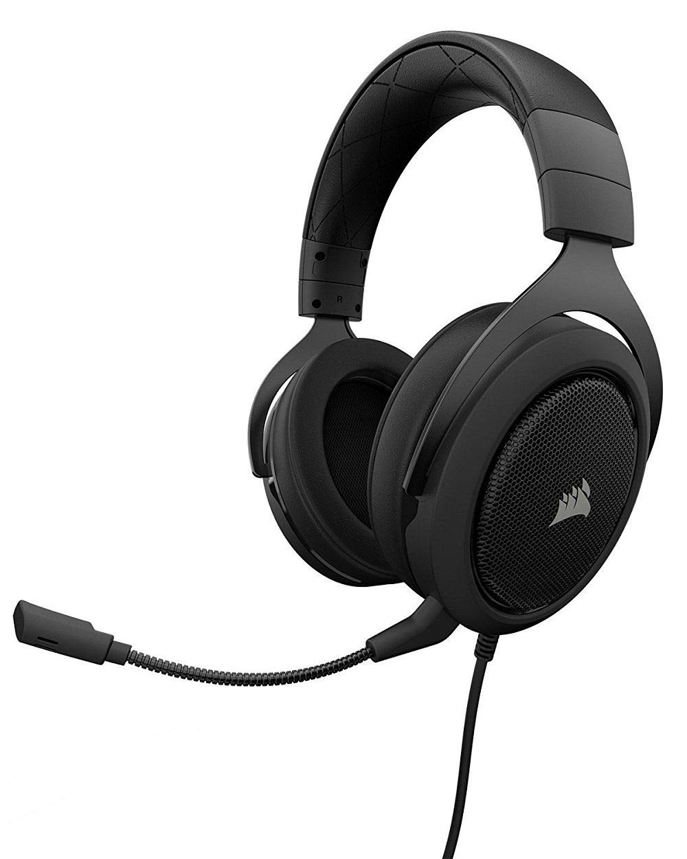 CORSAIR HS50 - Stereo Gaming Headset - Discord Certified Headphones - Works with PC, Mac, Xbox One, PS4, Nintendo Switch, iOS and Android - Carbon by Corsair