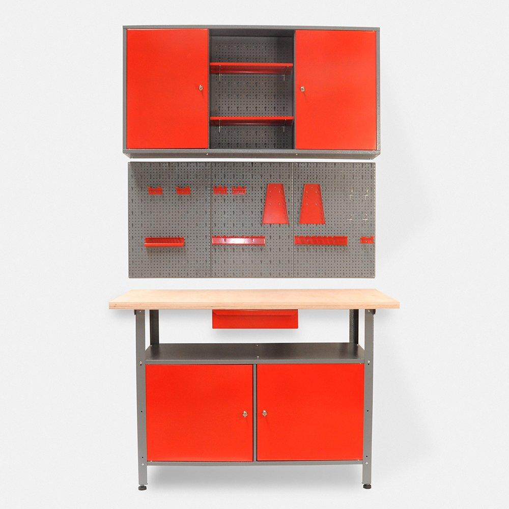 Werkstatteinrichtung bestehend aus: Werkbank, Werkstattschrank und ...