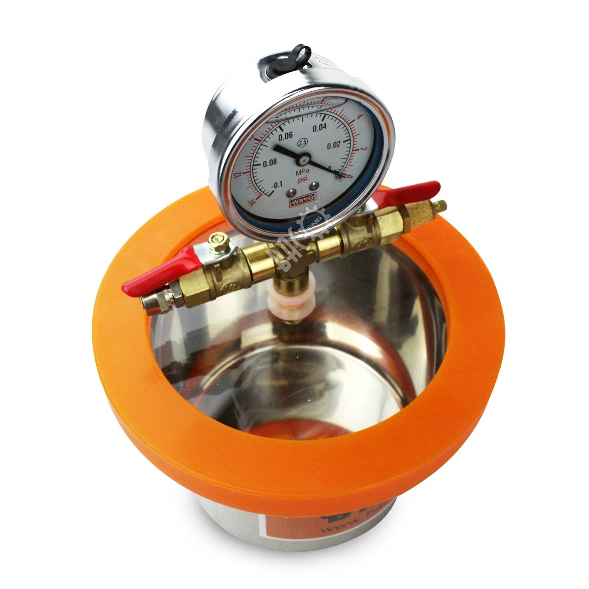 BACOENG 2 Quart Vacuum Chamber Kit with 3.6 CFM 1 Stage Vacuum Pump HVAC by BACOENG (Image #4)