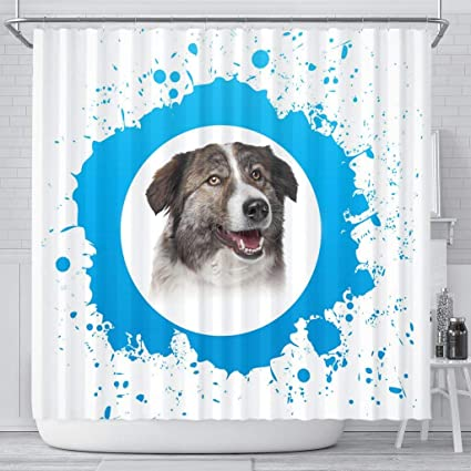 Image Unavailable Not Available For Color Breedink Amazing AIDI Dog Print Shower Curtain