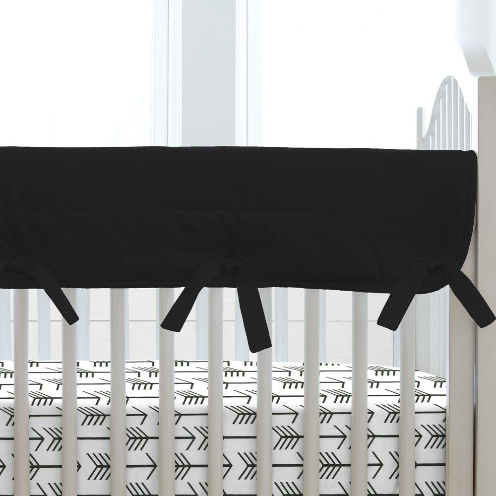 Carousel Designs Solid Black Crib Rail Cover