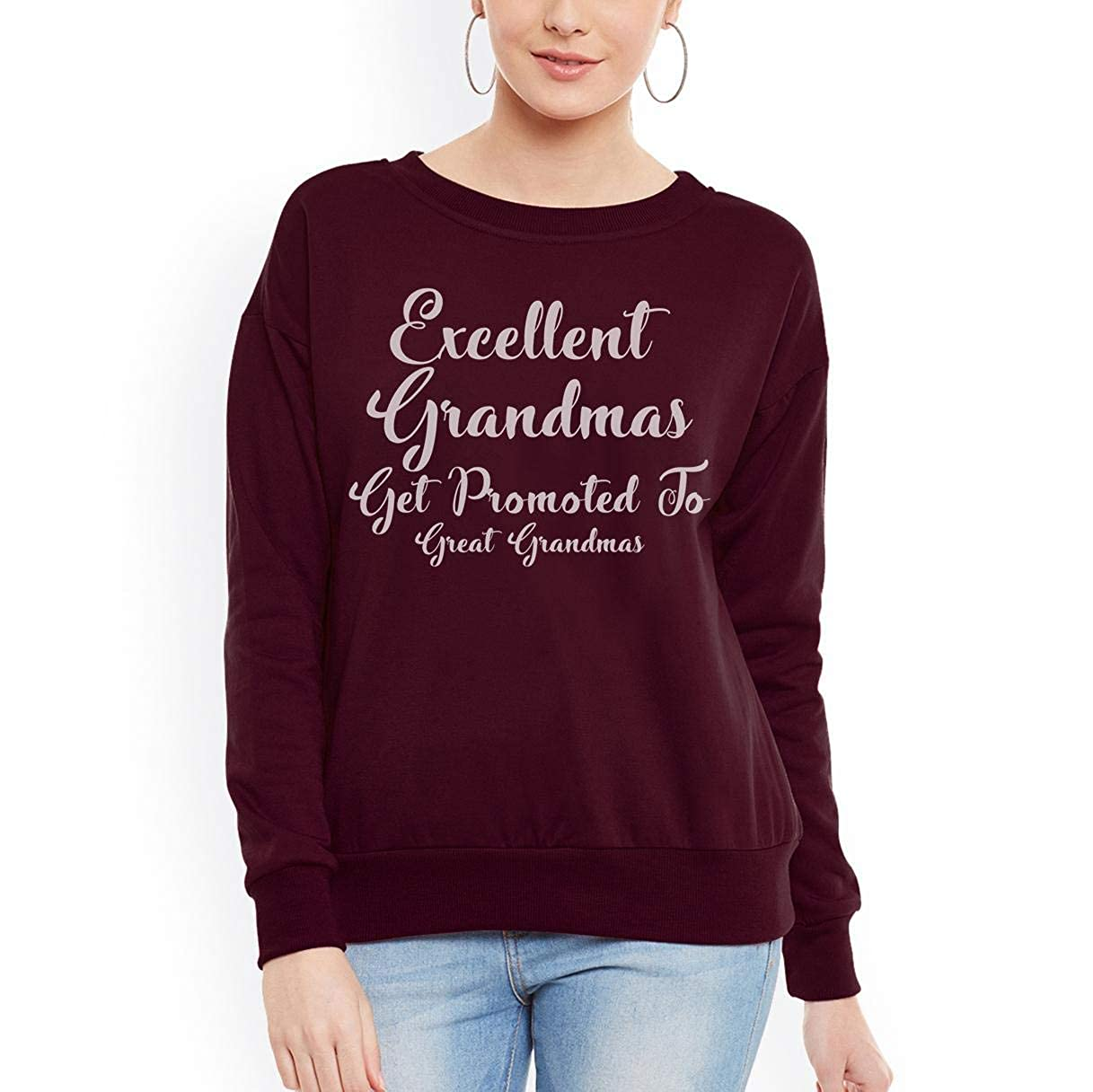 tee Doryti Excellent Grandmas Get Promoted to Great Grandmas Women Sweatshirt