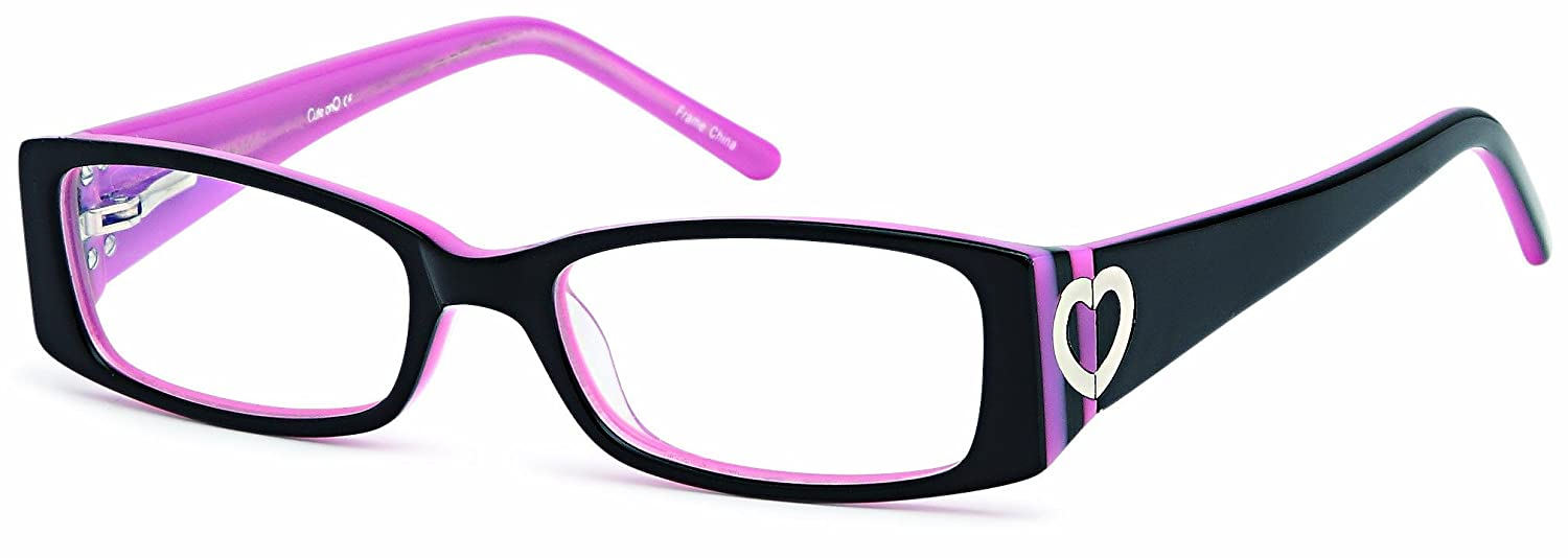 Amazon.com: Childrens Cute Heart Prescription Eye Glasses Frames in ...