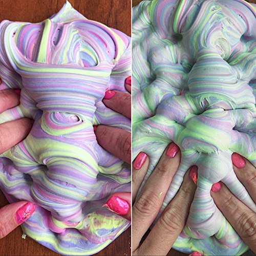 Newest Fluffy Slime - Super Soft, Fluffy, Bright Floam Slime Sludge Toys Gifts Arts DIY Crafts Supplies Wedding and Party Decoration, Stress Relief Toys Gifts
