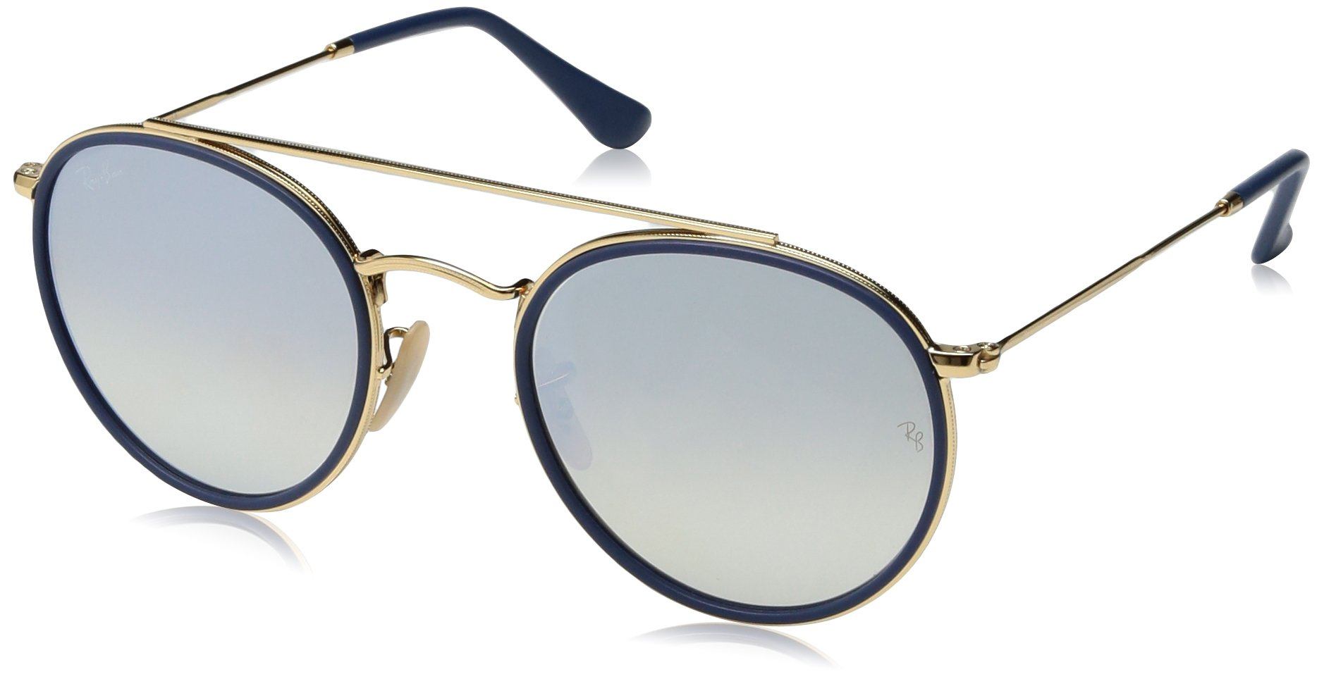 Ray-Ban Metal Unisex Non-Polarized Iridium Round Sunglasses, Gold, 51.4 mm by Ray-Ban