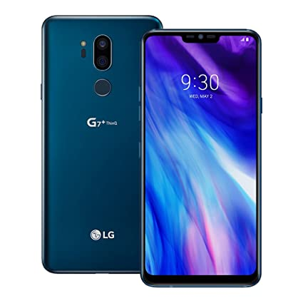 LG G7 Plus ThinQ (LM-G710EAW) 6GB/128GB 6 1-inches LTE Dual SIM Factory  Unlocked - International Stock No Warranty (Moroccan Blue)
