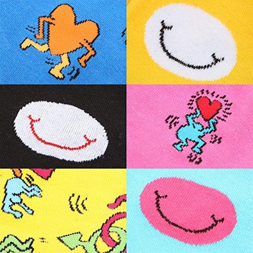 Chaussettes Hommes Rioriva Veau Chaussure Robe Grand Grand Plaisir Coloré À Motifs -funky Bsk78m-6 Paires