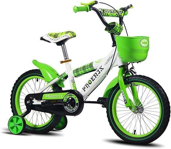 Bicicletas para niños bicicletas 16/14/12/18 pulgadas niñas niños bicicletas de tres ruedas vehículos para niños de 2-3-6-8 años (verde) (Size : 18 inches) : Amazon.es: Juguetes y juegos