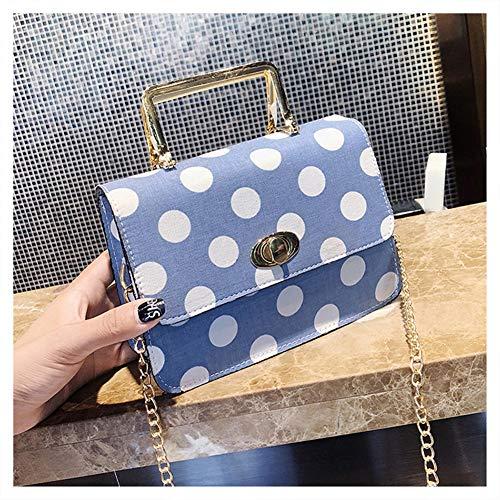 rosso Point Studente Bag Fashion Fata Wild Messenger Cool Borsa Messenger Bag Square Wave Donna Package Small blu Casual Pu Il Chaobaobao wHgq8TxUw