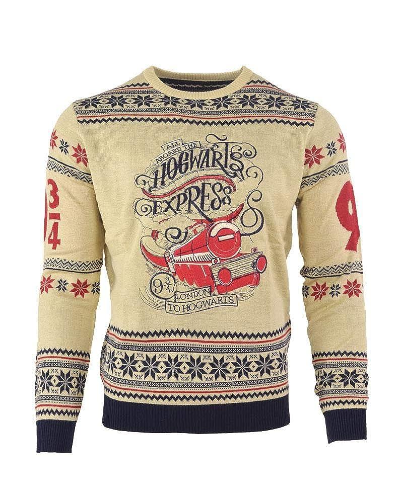 adc17c354 Harry Potter Christmas Jumper Ugly Sweater Hogwarts Express for Men Women  Boys and Girls: Amazon.co.uk: Clothing