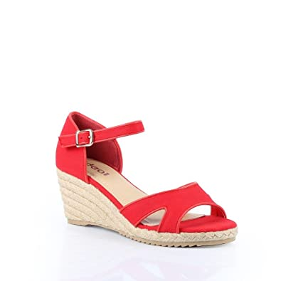 Bride Shoes Compensées Odeline Ideal Rouge Jean À Et Sandales En BfwRZq
