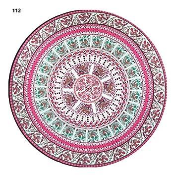 Heylookhere Toalla Redonda Yoga Mandala Print Toalla de Playa Yoga Pad (112): Amazon.es: Juguetes y juegos