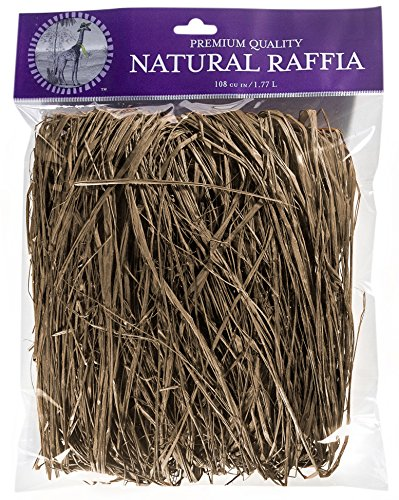 SuperMoss (30124) Raffia, Brown, 2oz - Brown Raffia